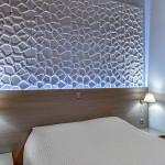 deluxe δίκλινο δωμάτιο με μπλκόνι θέα στη θάλασσα.